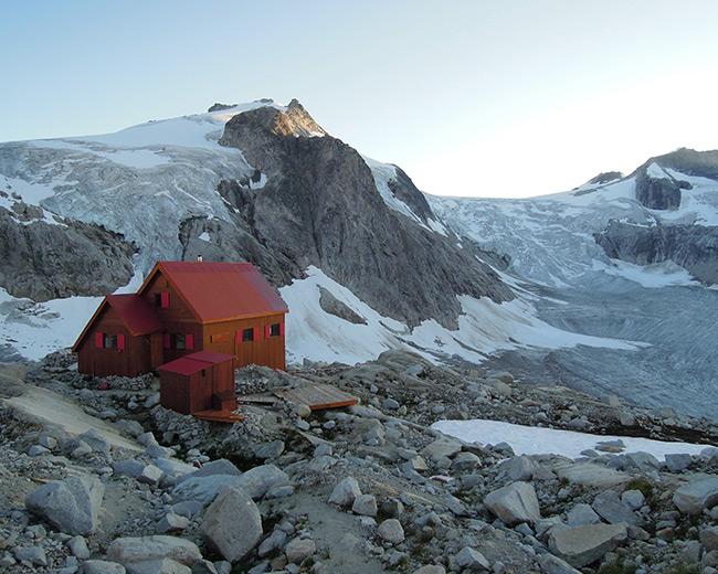 Hut to hut to hut trekking at the Durrand Glacier Chalet
