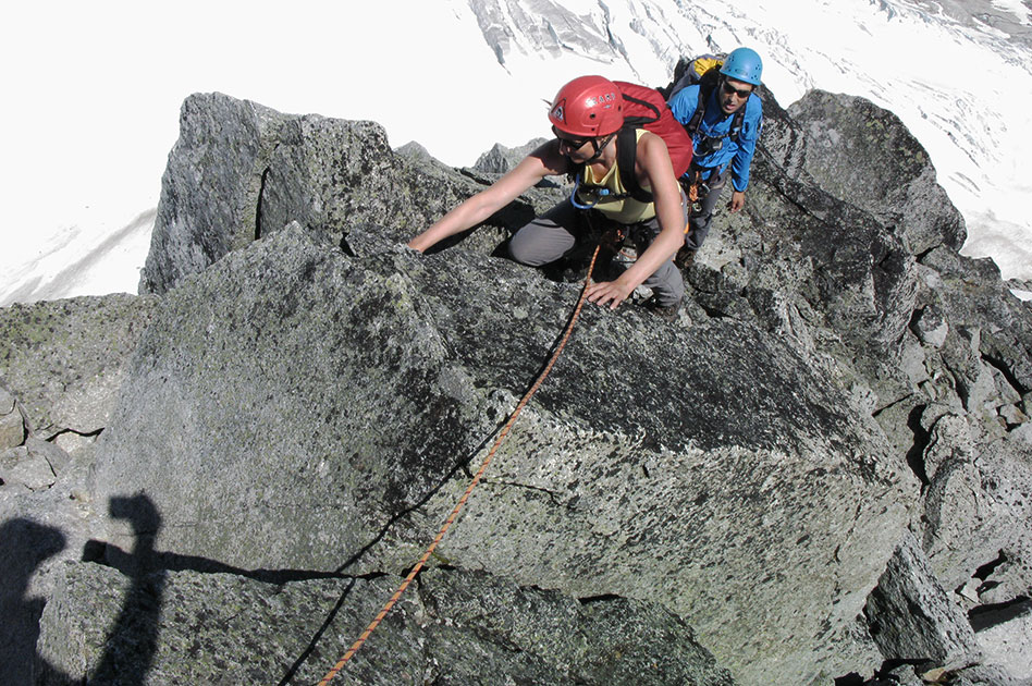 Rock climbing & mountaineering at the Durrand Glacier