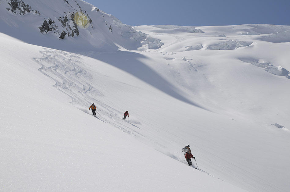 Skiing at The Durrand Glacier Chalet
