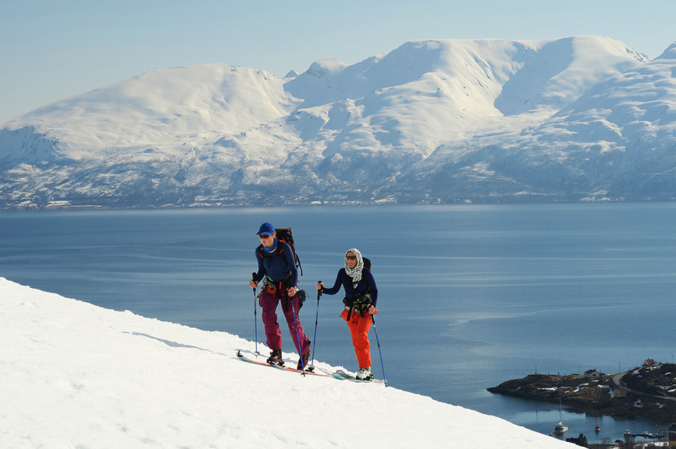 Ski Lyngen Alps in northern Norway
