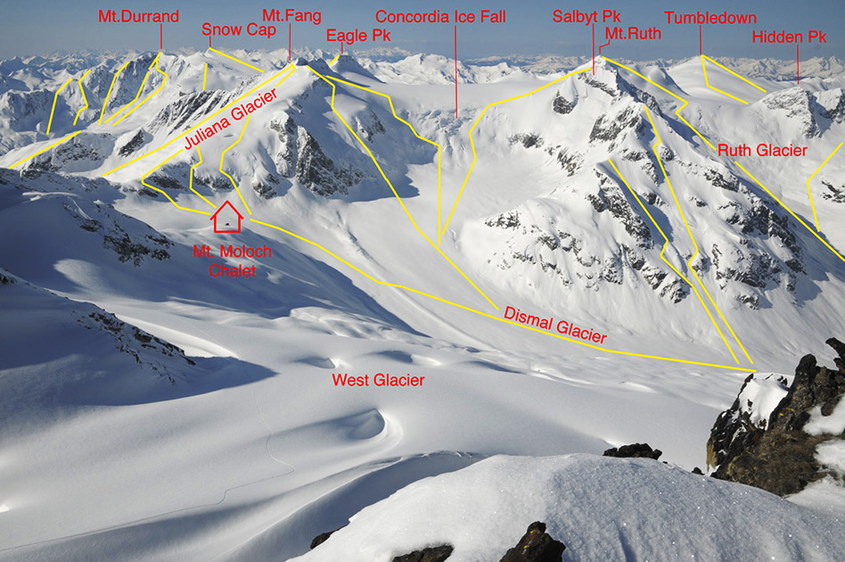 Ski Terrain at the Durrand Glacier Chalet